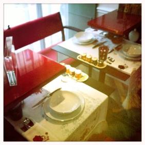 Les tables du resto